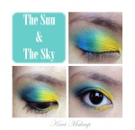 Blue and Yellow makeup tutorial