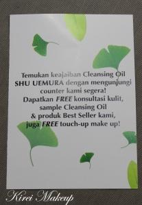 Shu Uemura Cleansing Oil Brochure