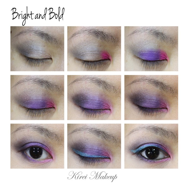 Pink and Purple smoky eyes