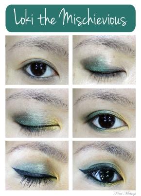 Loki Inspired Makeup