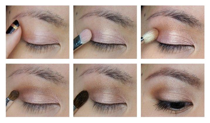 Pink and Brown eyeshadows